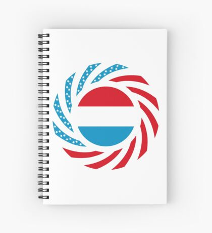 Luxembourgish American Multinational Patriot Flag Series Spiral Notebook
