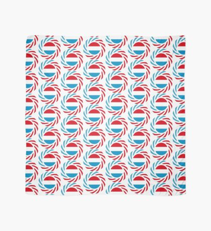 Luxembourgish American Multinational Patriot Flag Series Scarf