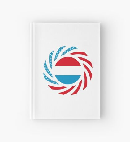 Luxembourgish American Multinational Patriot Flag Series Hardcover Journal