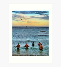 Dawn Swimmers Art Print