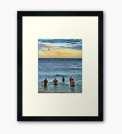 Dawn Swimmers Framed Print