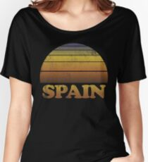 Vintage Spain Sunset Shirt Women's Relaxed Fit T-Shirt