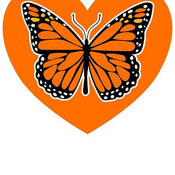 Orange love the monarch butterfly by pablomendoza