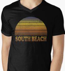 Vintage South Beach Shirt Men's V-Neck T-Shirt