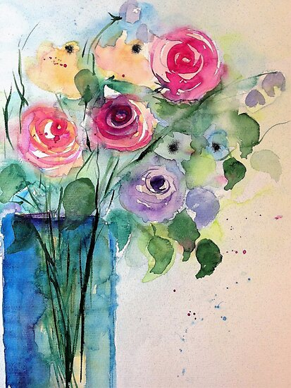 colorful bouquet of roses by Britta75