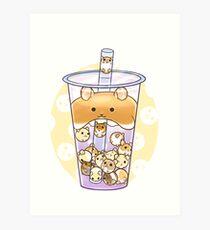 Hamster boba tea Art Print