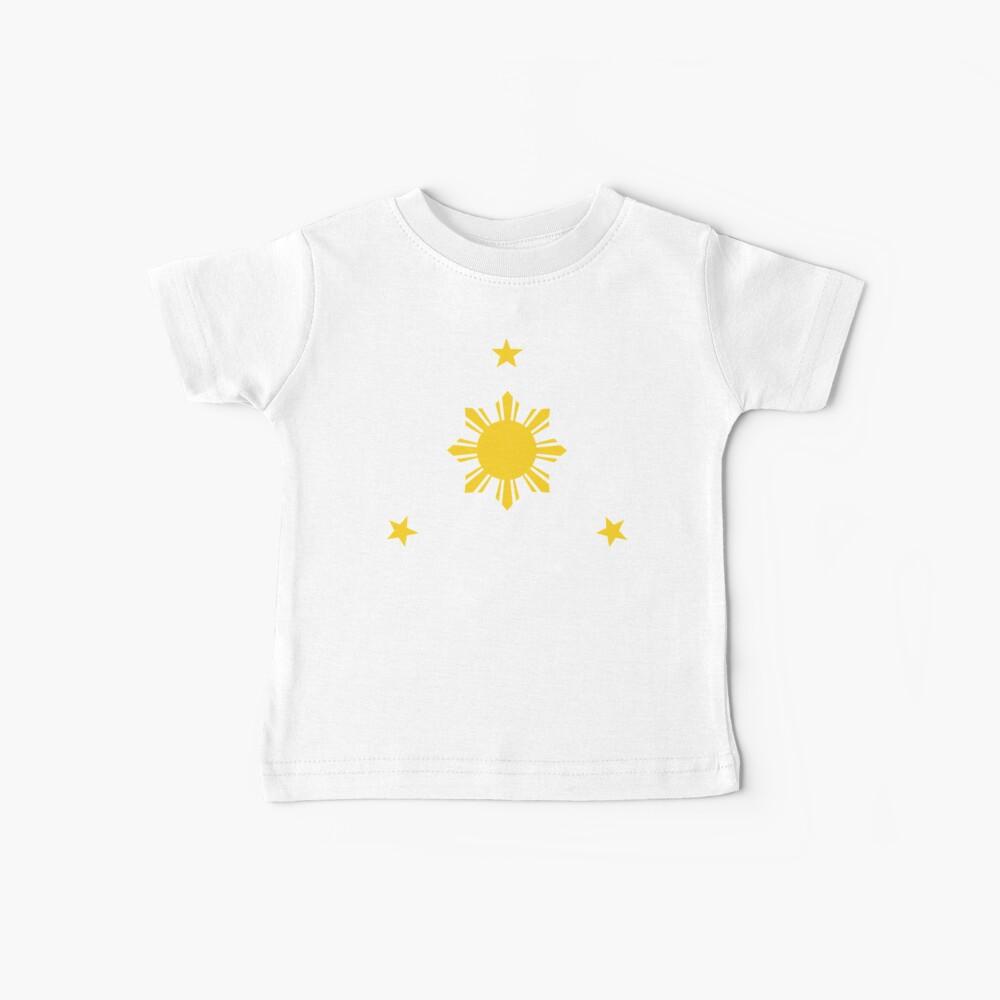 Filipinas Sun & Stars por AiReal Apparel Camiseta para bebés