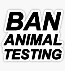 Ban Animal Testig (Black) Sticker