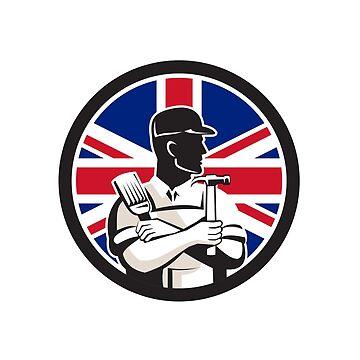 British DIY Expert Union Jack Flag Icon by patrimonio
