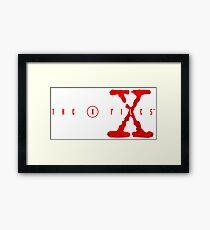 the x files Framed Print