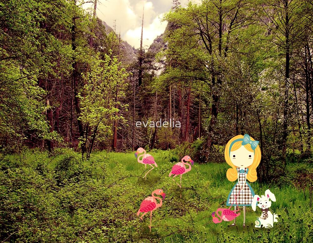 Greeting Card Alice in Wonderland by evadelia
