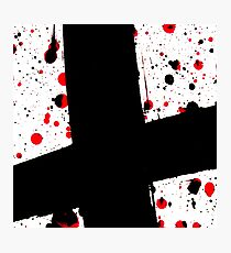 The Black Cross - Abstract Art Photographic Print