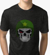 Military Skull Zombie Tri-blend T-Shirt