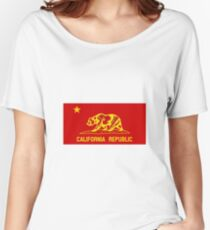 People's Republic of California - Red Communist Flag Women's Relaxed Fit T-Shirt