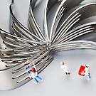 Chef And Forks by Paul Ge