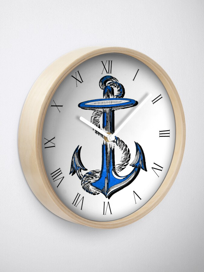 Alternate view of Blue Anchor Clock