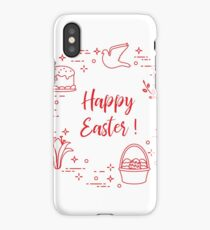 Easter cake, willow, lily,candle,dove,basket,eggs. iPhone Case/Skin
