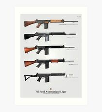 FN FAL - Right Arm of the Free World Art Print