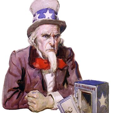 Uncle Sam with Empty Treasury by taiche