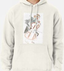 Cello Player Musician Expressive Drawing Pullover Hoodie