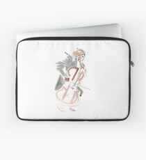Cello Player Musician Expressive Drawing Laptop Sleeve