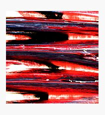 Abstract Violent Paint Expessionism Art Red and Black Photographic Print