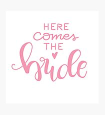 Here comes the bride - pink Photographic Print
