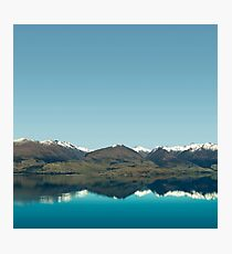 Blue Reflections of mountains Photographic Print