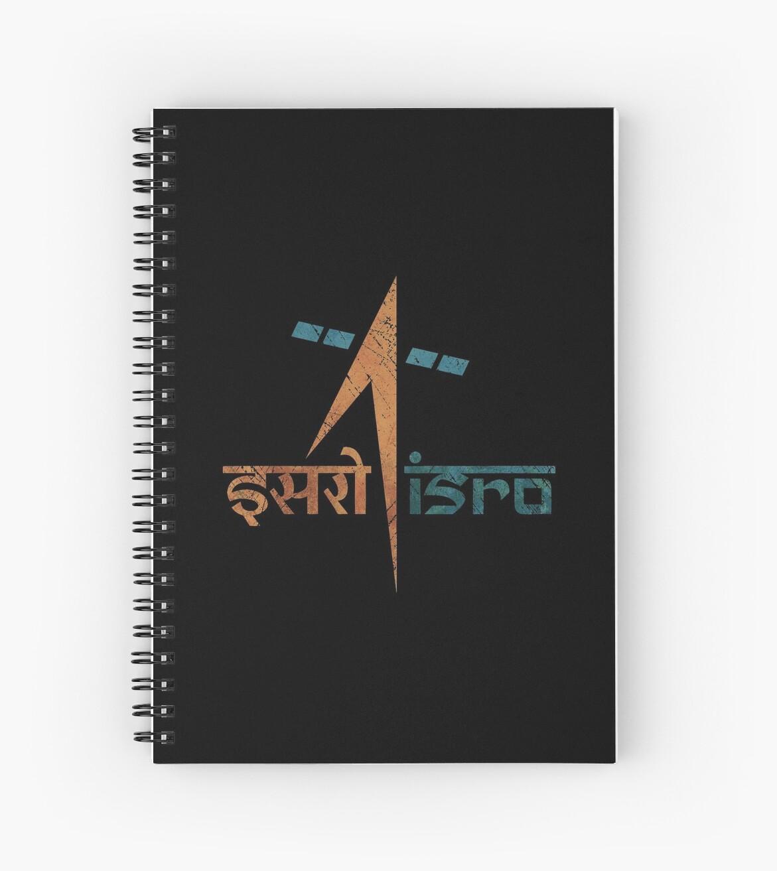 Indisches Weltraumprogramm Vintage Emblem von Lidra