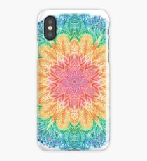 Colorfull watercolor mandala. Ornate round ornament  iPhone Case