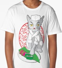 No-one but me makes the sushi (Japanese cat chef) Long T-Shirt