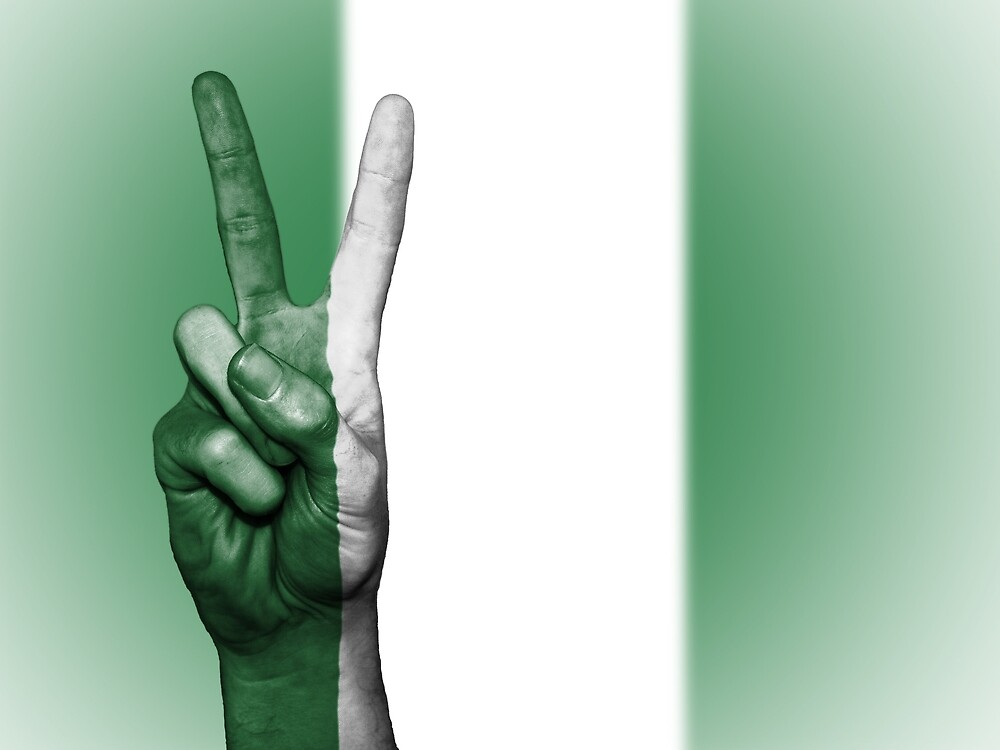 Nigeria Fingers Flag by PRODUCTPICS