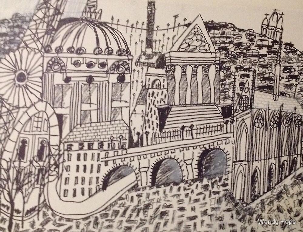 Paris Drawing by Wendy Hope