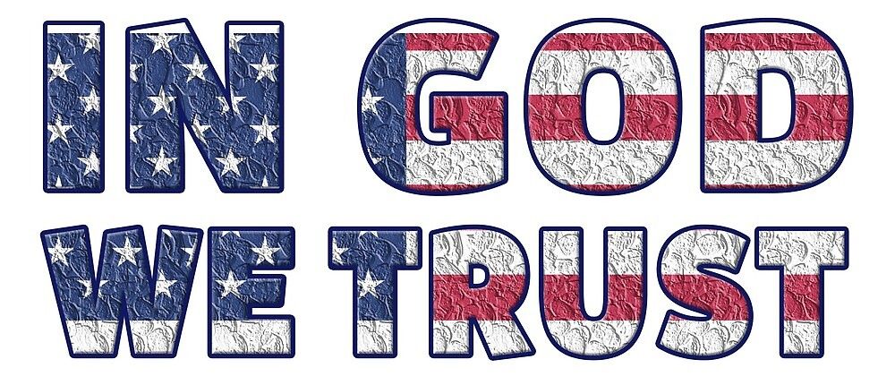 In God We Trust USA Flag by PRODUCTPICS