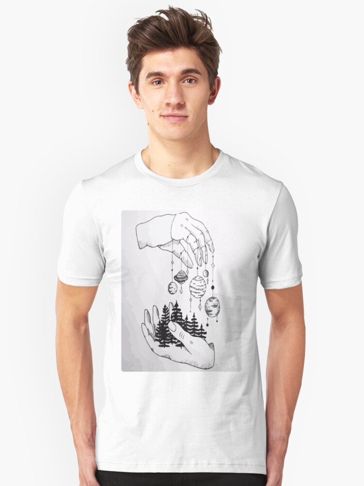 Planets drawings Unisex T-Shirt Front