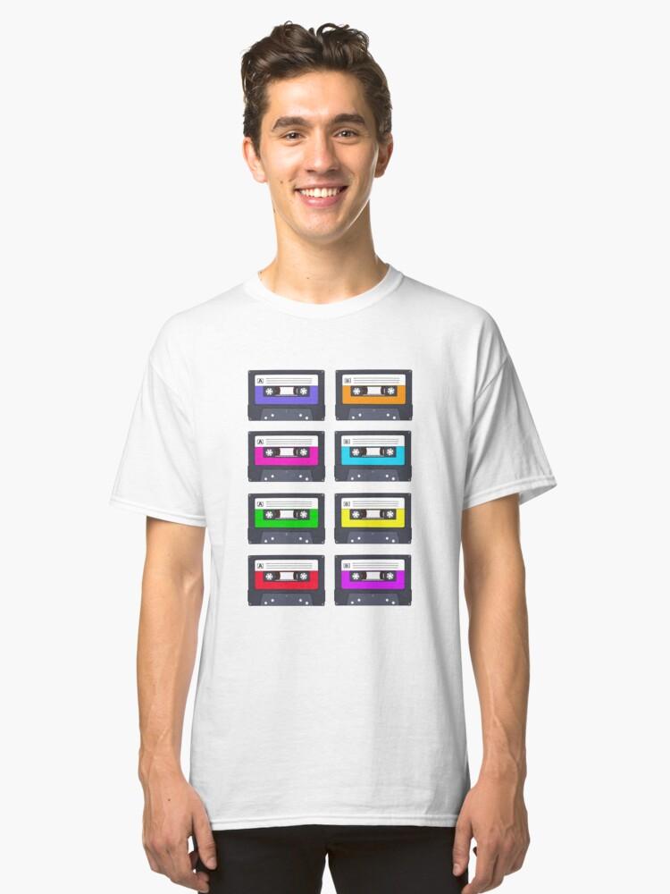Colourful Cassette Tapes Design  Classic T-Shirt Front