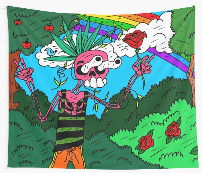 Park Skeleton (Smell the Roses) by KaitlinDonovan