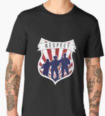 Respect Badge Retro Police Armed Team Protect Men's Premium T-Shirt