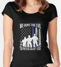 USA Law Enforcement Officers Protection Police Women's Fitted Scoop T-Shirt