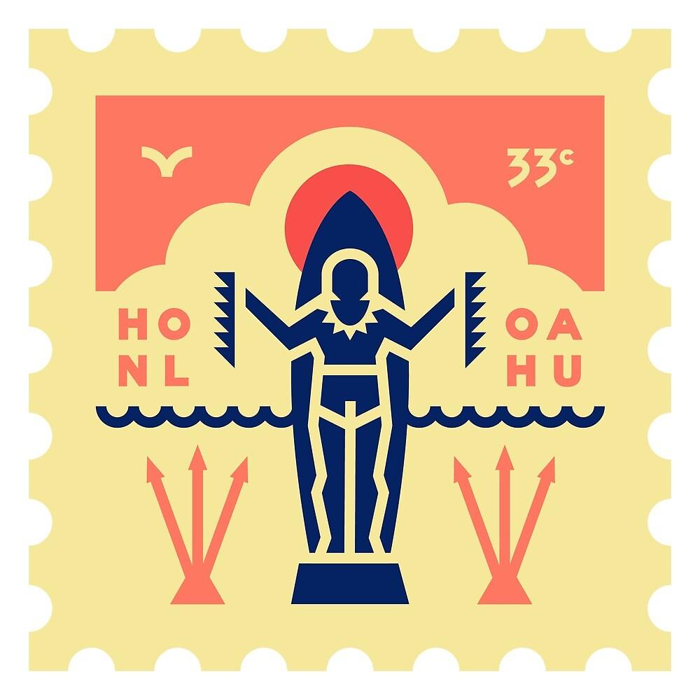 Honolulu Stamp by JamesShannon