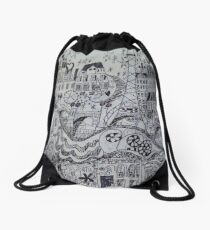 Streets That Tell A Story Drawstring Bag