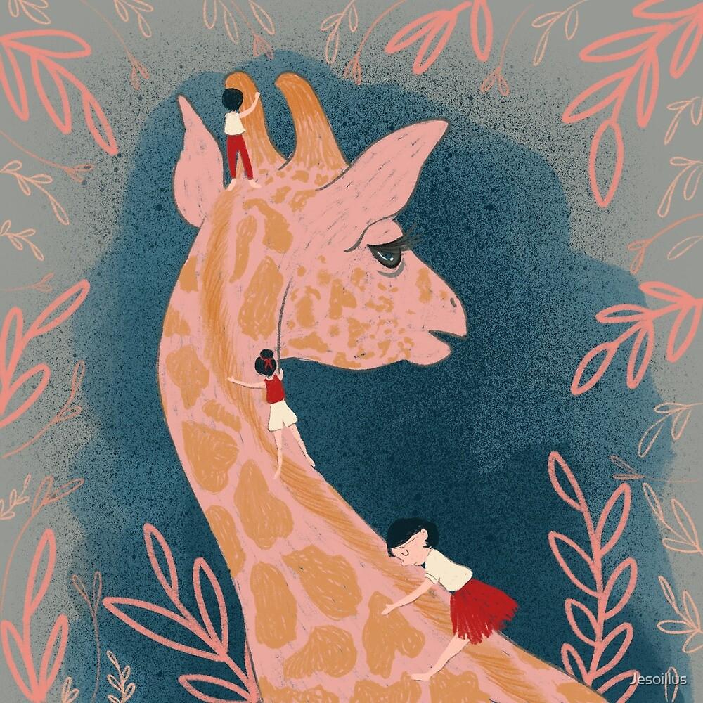 Giraffe love  by Jesoillus