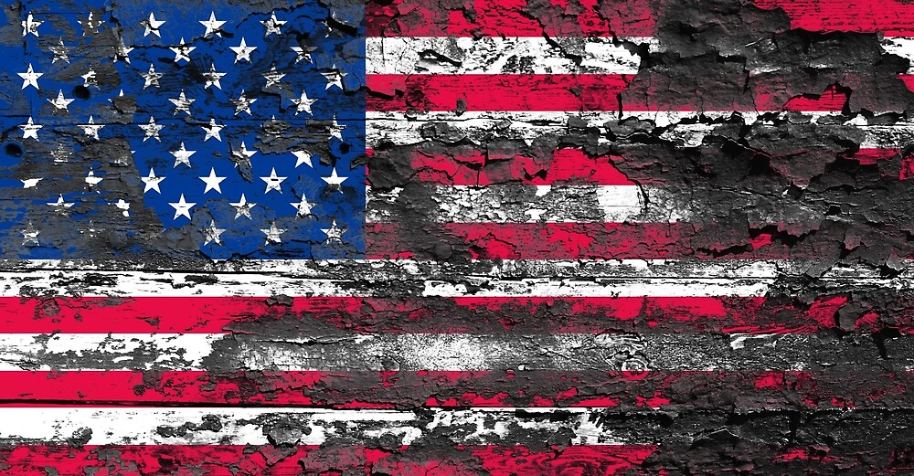 Vintage Grunge USA Flag by PRODUCTPICS
