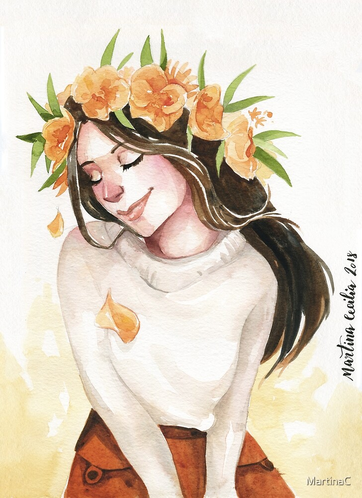 Ever so grateful - watercolor portrait by MartinaC