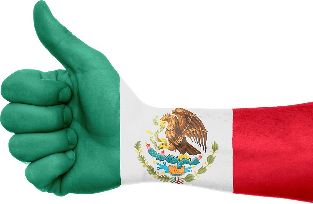 Mexico Hand Flag by PRODUCTPICS