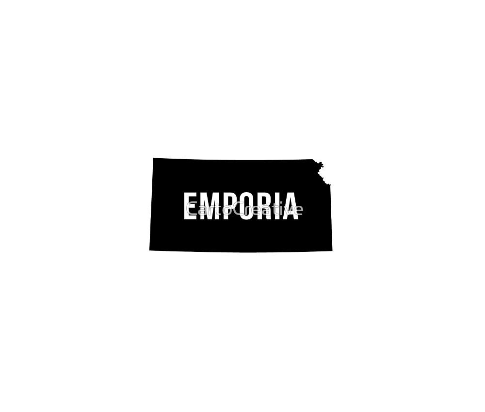 Emporia, Kansas Silhouette by CartoCreative
