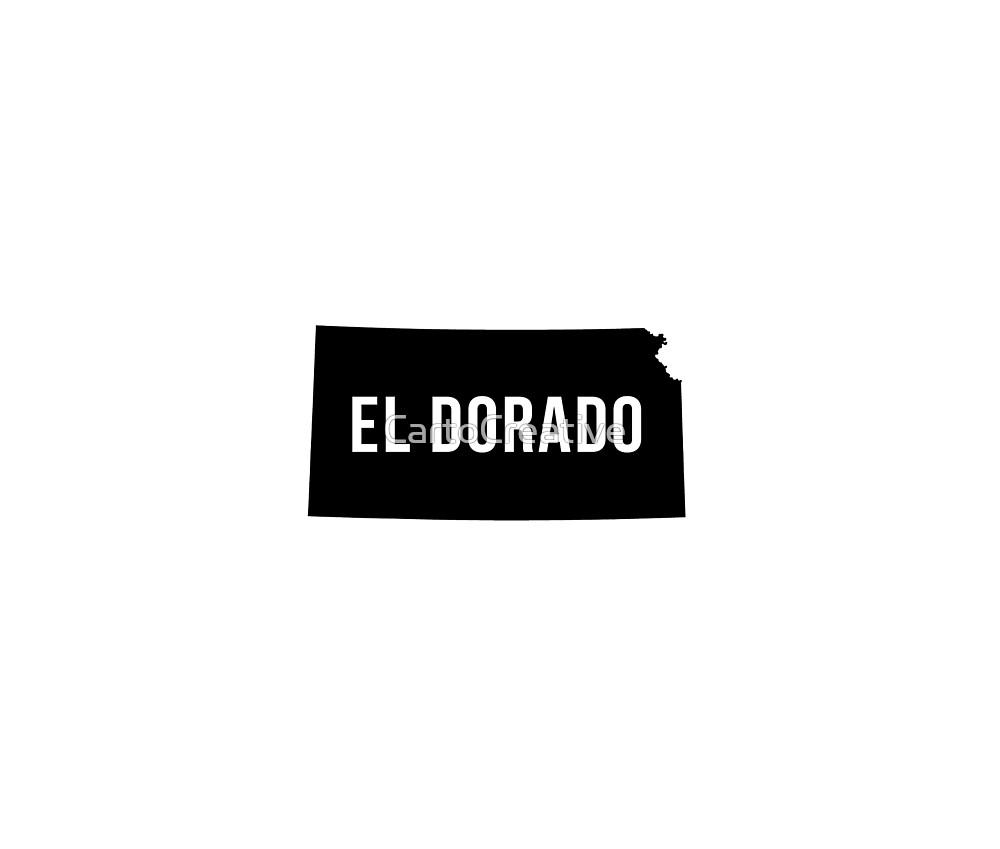 El Dorado, Kansas Silhouette by CartoCreative