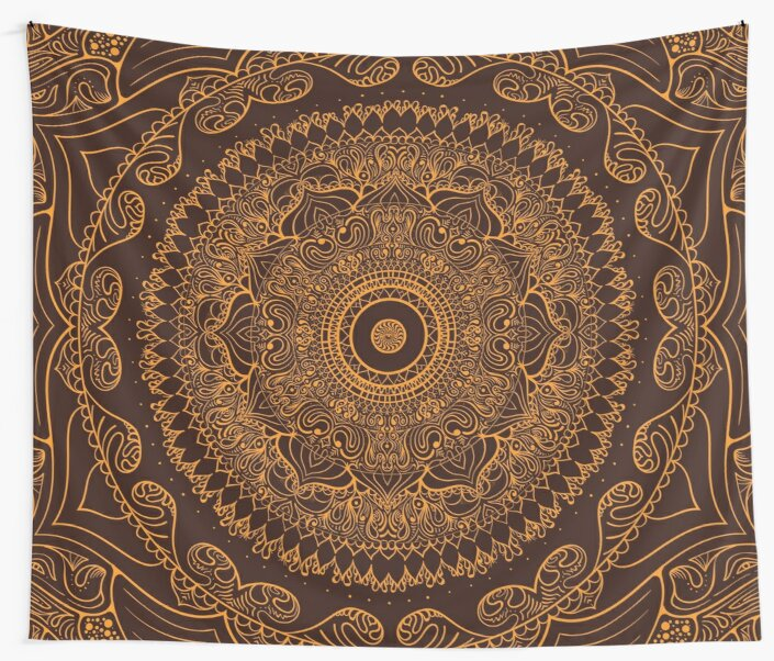 Ancient Mandala III - Custom Wall Tapestry by Jimmy Rector by jimmyrector