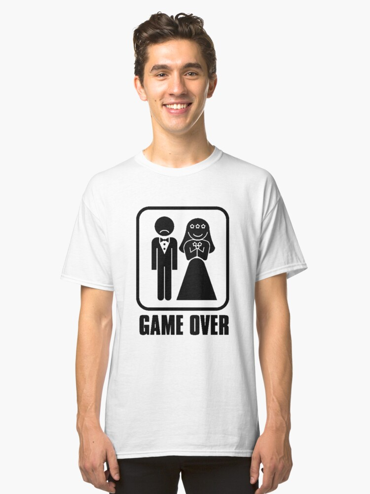 Game over white model Classic T-Shirt Front