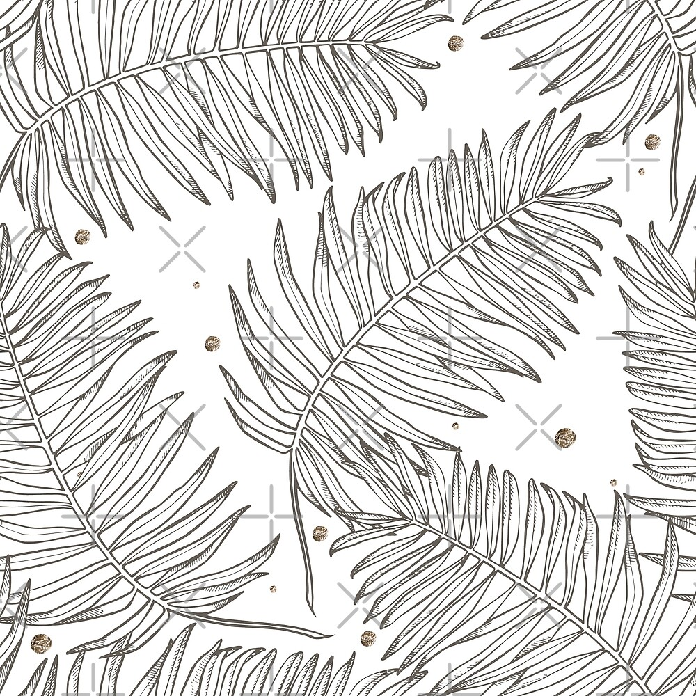 Tropical palm leaves  by Asetrova